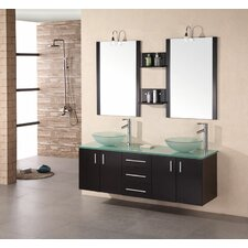 "<strong>Design Element</strong> Modena 61"" Double Sink Vanity Set"