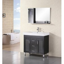 "<strong>Design Element</strong> Miami 35.5"" Single Sink Vanity Set"