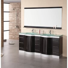"<strong>Design Element</strong> Jade Jasper 72"" Double Sink Vanity Set"