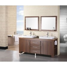 "<strong>Design Element</strong> Washington 72"" Double Sink Vanity Set"