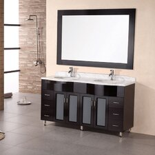 "<strong>Design Element</strong> Belini Tustin 61"" Double Sink Vanity Set"