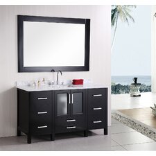 "<strong>Design Element</strong> Stanton 60"" Single Modern Bathroom Vanity Set"