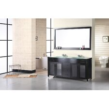 "<strong>Design Element</strong> Waterfall 61"" Double Sink Vanity Set"