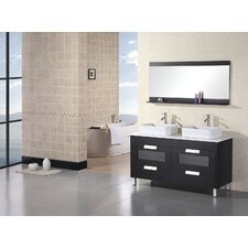 "<strong>Design Element</strong> Francesca 55"" Double Sink Vanity Set"