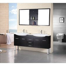 "<strong>Design Element</strong> Belini Tustin 72"" Double Sink Vanity Set"