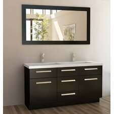 "<strong>Design Element</strong> Moscony 60"" Double Sink Vanity Set"