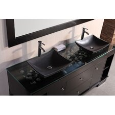 "<strong>Design Element</strong> Oasis 72"" Double Sink Vanity Set"