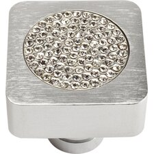 "Boutique Crystal 1"" Square Small Crystal Pave Knob"