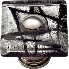 "Glass Eclipse 1.5"" Square Knob"