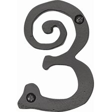 "Scroll 5.5"" Large House Number"
