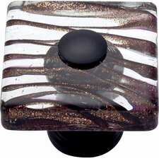 "Glass Milky Way 1.5"" Square Knob"