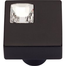 "<strong>Atlas Homewares</strong> Boutique Crystal Off Center 1"" Square Knob"