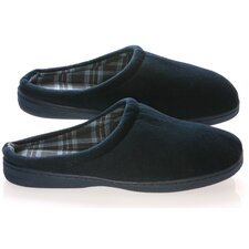 Vamp with Checked Lining Male Slippers