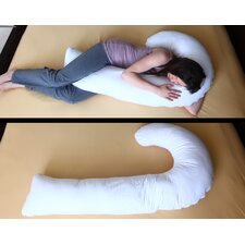 J Full Body Pillow with Hypoallergenic Synthetic Fiber Filler