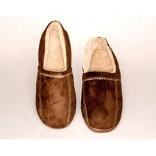 <strong>Deluxe Comfort</strong> Suede Fleece Men's Slipper