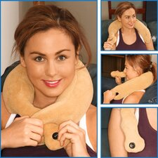 <strong>Deluxe Comfort</strong> Shiatsu Neck Massage Pillow