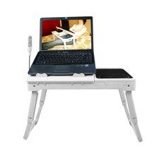 Laptop Desk Table with Cooling Fans and USB Hub and Light