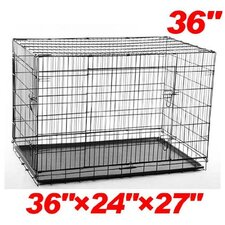 2 Door Folding Pet Crate