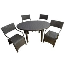 Outsunny 5 Piece Dining Set