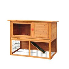 "Pawhut 50"" Deluxe Wooden Rabbit Hutch/Bunny House with Lower Outdoor Run"