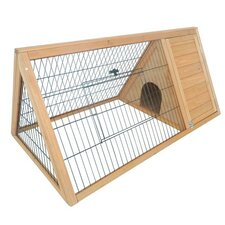 Pawhut Outdoor Triangular Wooden Animal Hutch/House
