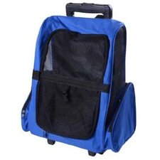 Deluxe Pet Travel Carrier Backpack with Wheels