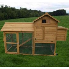 Deluxe Portable Backyard Chicken Coop with Nesting box