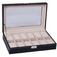 HomCom Display Watch Jewelry Box