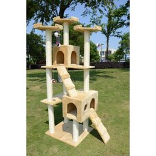 "72"" Condo Scratcher Cat Tree"