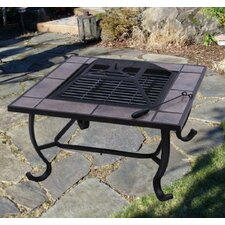 Outsunny Backyard Patio Firepit Table