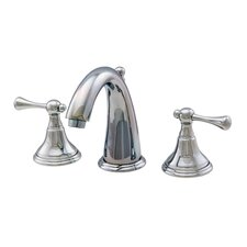 Water Creation F2-0001-01 Classic C Spout Widespread Lavatory Faucet With Pop-Up Drain
