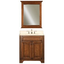 "Water Creation Spain 30B 30"" Golden Straw Single Sink Bathroom Vanity And Spain-M-2430 Matching Mirror"