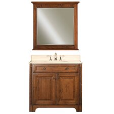 "Water Creation Spain 36B 36"" Golden Straw Single Sink Bathroom Vanity And Spain-M-3030 Matching Mirror"