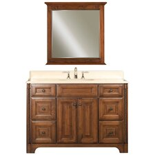 "Water Creation Spain 48C 48"" Golden Straw Single Sink Bathroom Vanity And Spain-M-3030 Matching Mirror"