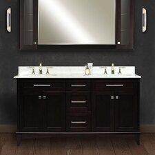 """Water Creation Manhattan 60B 60"""" Dark Espresso Double Sink Bathroom Vanity And Manhattan-MC-6036 Matching Medicine Cabinet"""