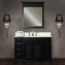 "Water Creation London 48B 48"" Dark Espresso Single Sink Bathroom Vanity And LONDON-M-4836 Matching Mirror"