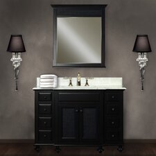 "Water Creation London 48C 48"" Dark Espresso Single Sink Bathroom Vanity And LONDON-M-3036 Matching Mirror"