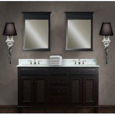 """Water Creation London 60C 60"""" Dark Espresso Double Sink Bathroom Vanity And Two LONDON-M-2136 Matching Mirrors"""