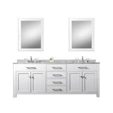 """Madison 72"""" Double Sink Bathroom Vanity Set"""
