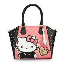 Hello Kitty Quilted Pearls Polka Dot Tote Bag