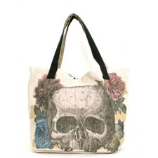 <strong>Loungefly</strong> Skull Flower Tote Bag
