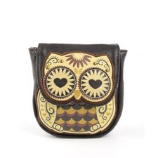 Owl With Heart Eyes Coin Bag