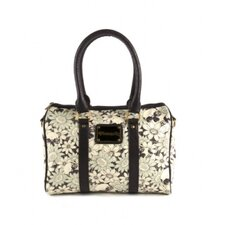 Floral Skull Satchel Bag