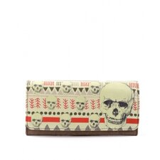 Tribal Print Skull Wallet