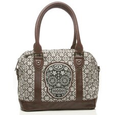 Sugar Skull Tweed Satchel Bag