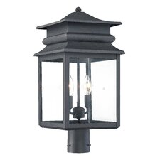<strong>Great Outdoors by Minka</strong> Winward Manor 3 Light Outdoor Post Lantern