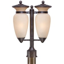 "Tuscan Way 2 Light 13.75"" Outdoor Post Lantern"