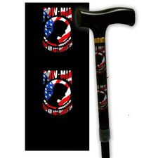 Pow MIA RWB Single Point Cane