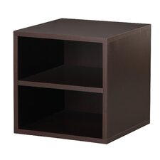 <strong>Foremost</strong> Modular Storage Cube with Shelf in Espresso