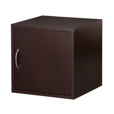Modular Storage Cube with Door in Espresso